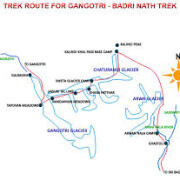 gangotri tapovan trek map